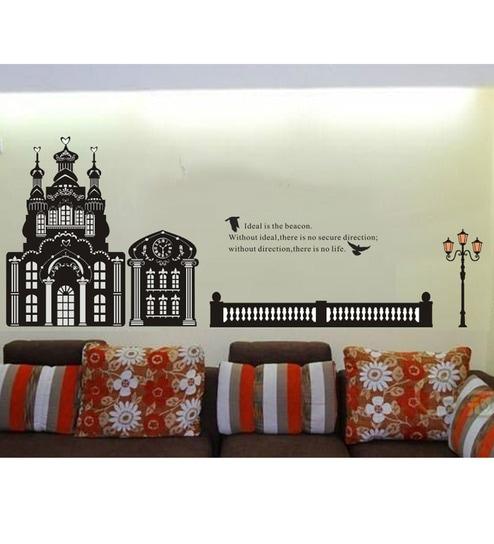 buy stickershopee us black house pvc vinyl wall sticker online
