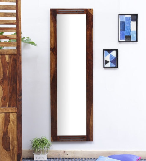 Buy Stigen Full Length Mirror with Solid Wood Frame in Provincial ...