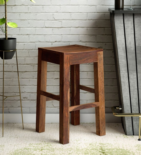 Fantastic Stigen Solid Wood Bar Stool In Provincial Teak Finish By Woodsworth Ocoug Best Dining Table And Chair Ideas Images Ocougorg