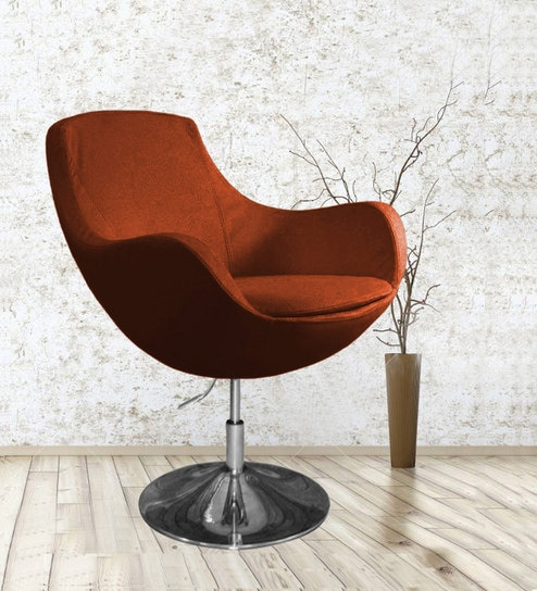 Miraculous Liva Lounge Chair In Rust Colour By Workspace Interio Ibusinesslaw Wood Chair Design Ideas Ibusinesslaworg