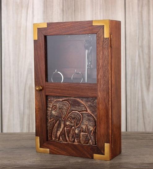 Store Indya Key Box Wood Key Holder