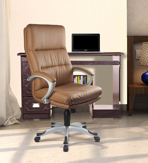 Storm High Back Executive Chair In Sand Brown Color By Vof Online Chairs Office Furniture Pepperfry Product