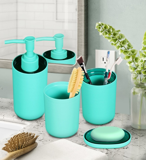 Bathroom Accessories In Light Turquoise
