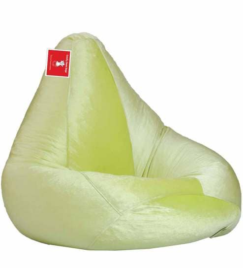 Stretchable Bean Bag With Beans In Pista Colour By Comfy Bags