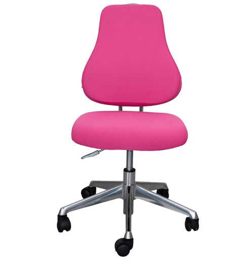 Study Chair in Pink Finish by Alex Daisy