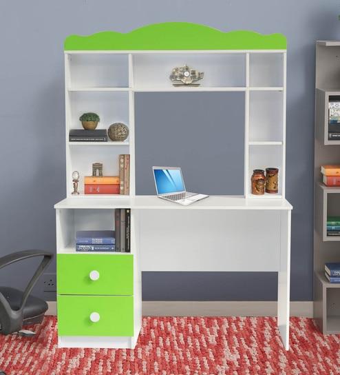 Friends Study Unit In White U0026 Lime Green Finish By Kids Fun Furniture