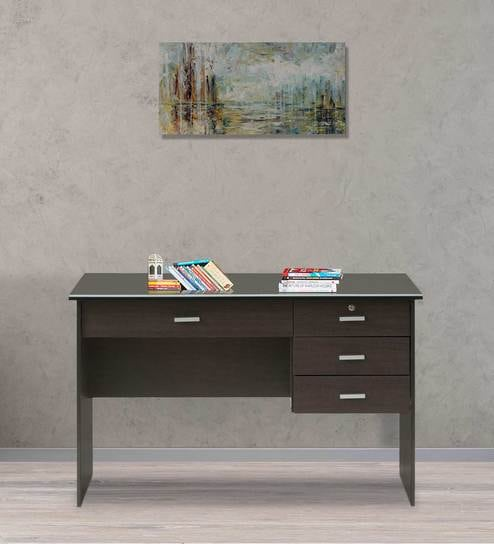 buy study table with drawers in cappucinno finish by marco online