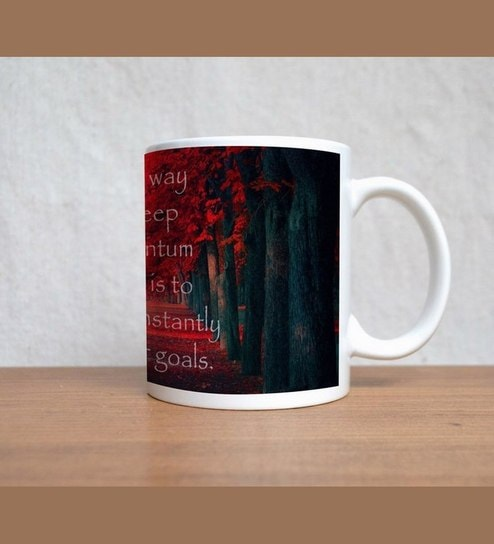 buy stybuzz life goal quotes red mug online abstract abstract