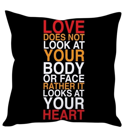 Stybuzz Love Quote Cushion Cover By Stybuzz Online Slogans