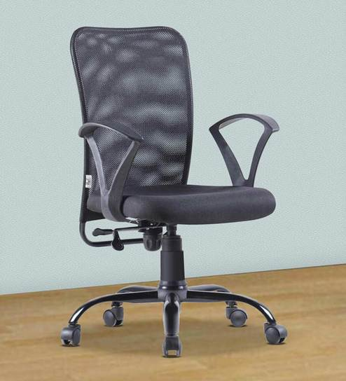 Style Office Ergonomic Chair In Black Color By Vof