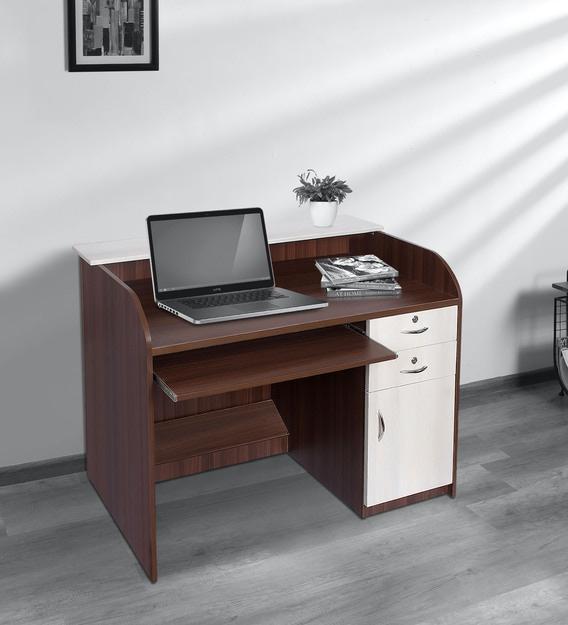 Computer Table In Walnut Finish By, Walnut Computer Desk