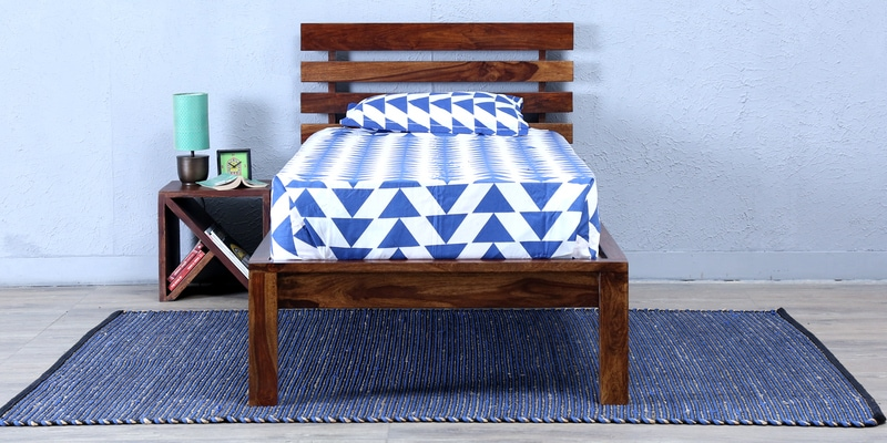 Stigen Solidwood Single Bed in Provincial Teak Finish by Woodsworth