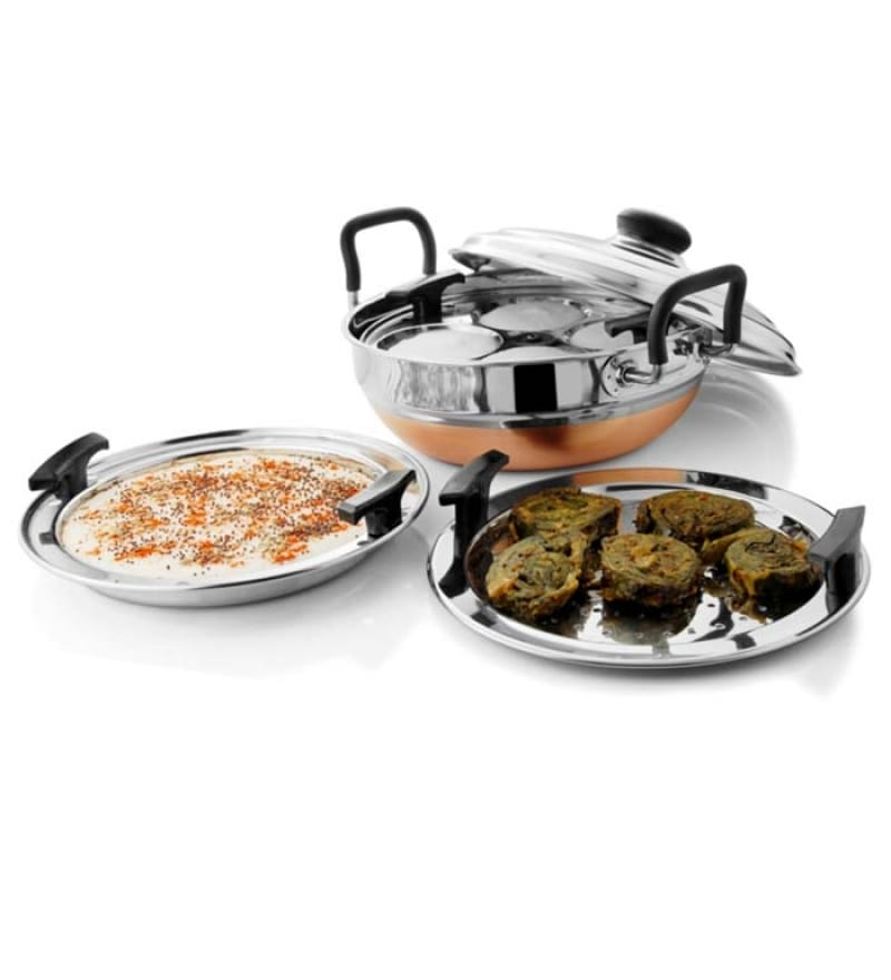 Steelcraft Stainless Steel Copper Bottom Multi Kadai