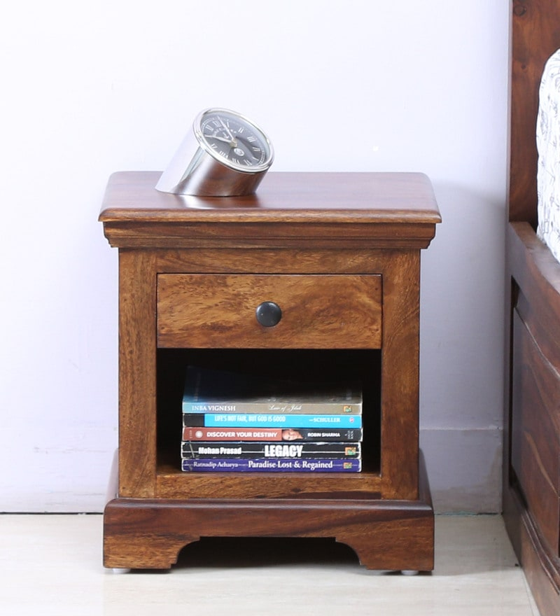 Stanfield Bed Side Table in Provincial Teak Finish by Amberville