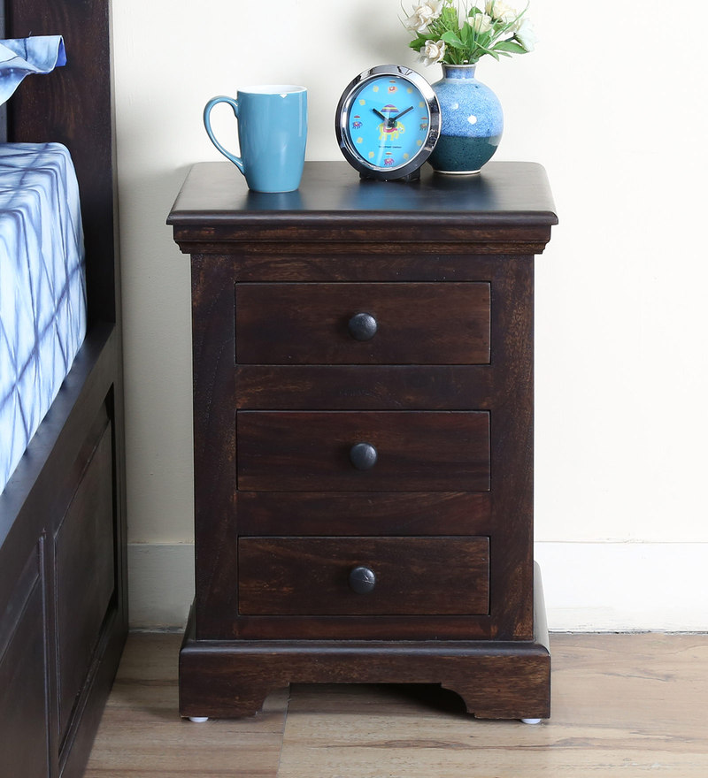 Stanfield Bed Side Table in Warm Chestnut Finish by Amberville