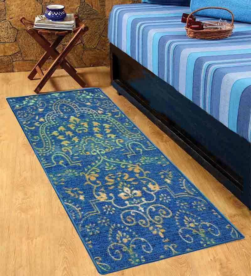 Blue Bed Side Taba Runner Green by Status