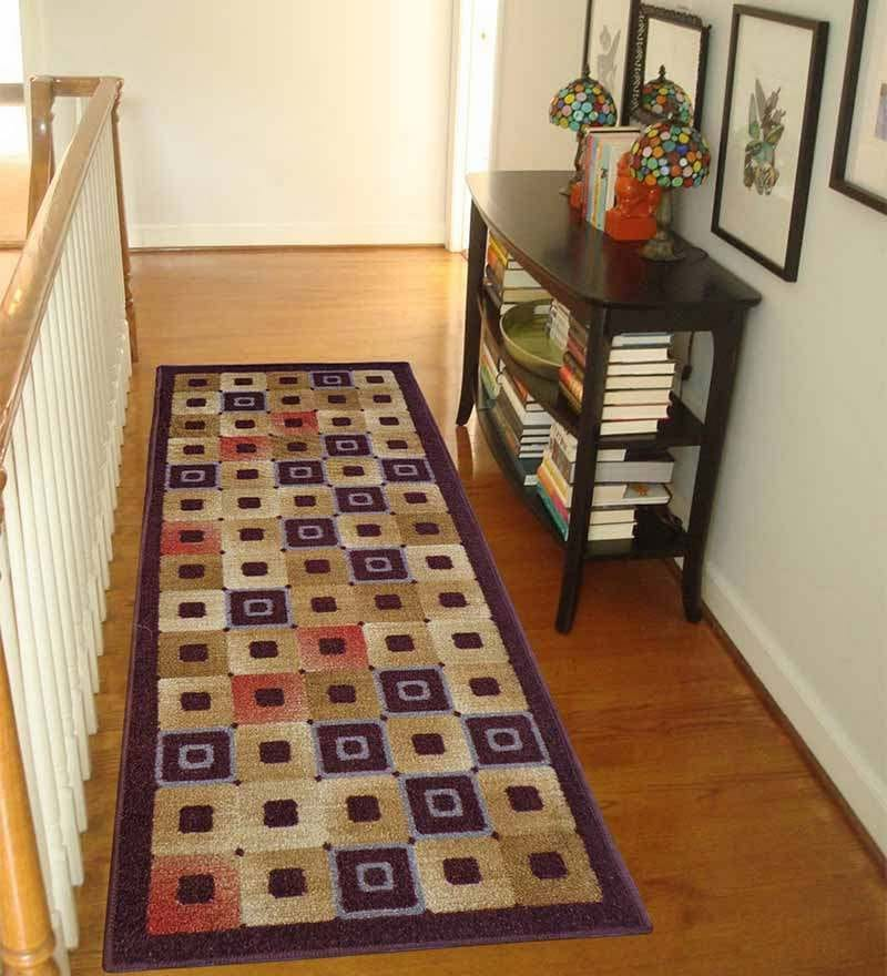 Brown Nylon 55 x 22 Inch Runner by Status