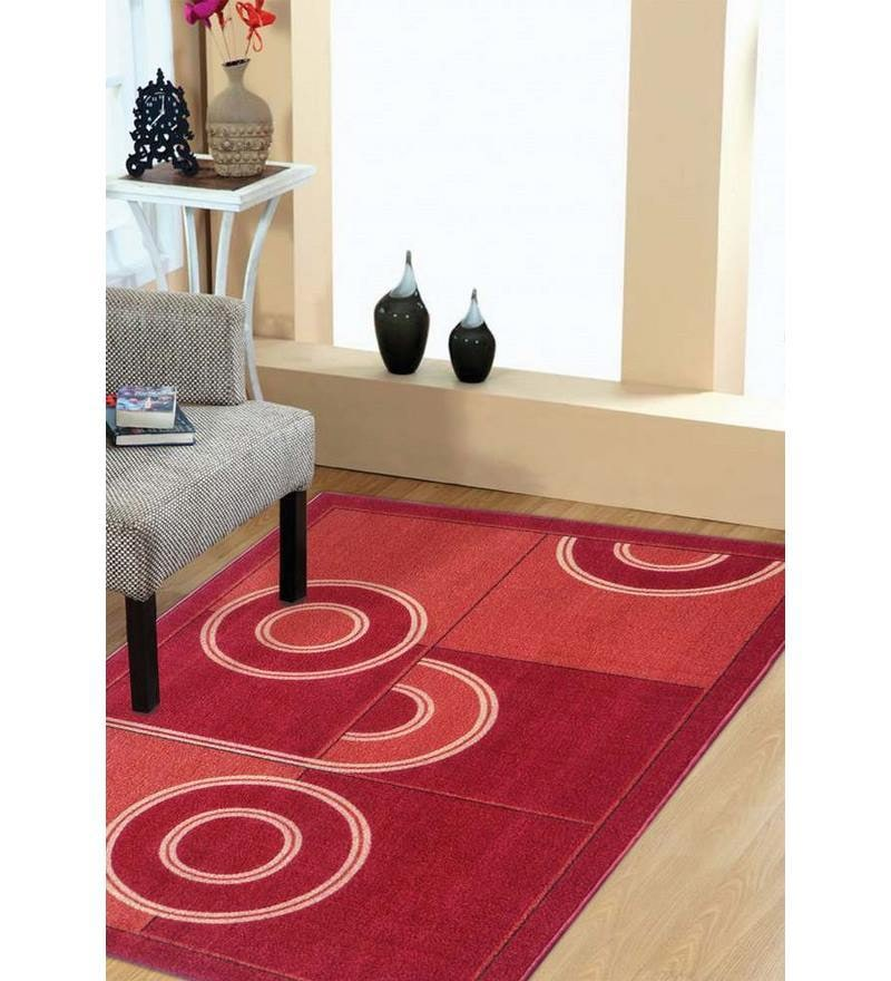 Multi Colored Concentric Circle Art Taba Rug by Status