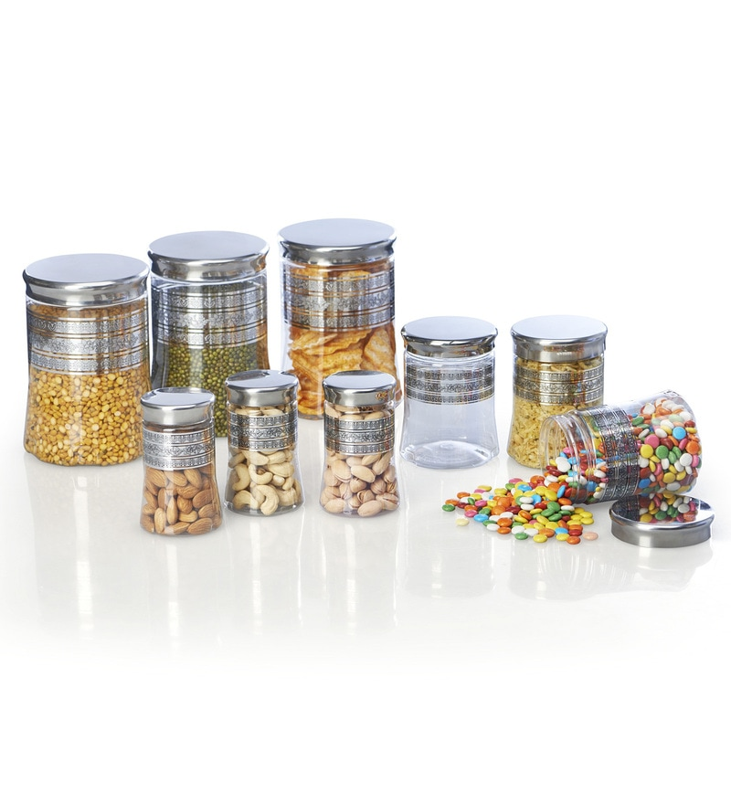 Steelo Transparent Storage Container - Set of 9