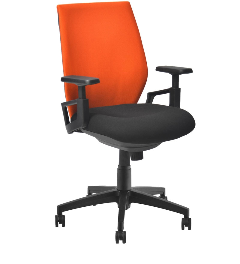 Buy Steller Ergonomic Office Chair In Orange Black Colour By Nilkamal Online Ergonomic Chairs Chairs Furniture Pepperfry Product
