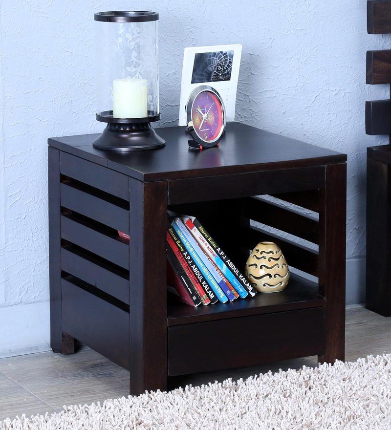 Stigen Bed Side Table in Warm Chestnut Finish by Woodsworth