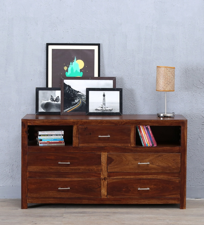 Stigen Chest Of Drawer in Provincial Teak Finish by Woodsworth