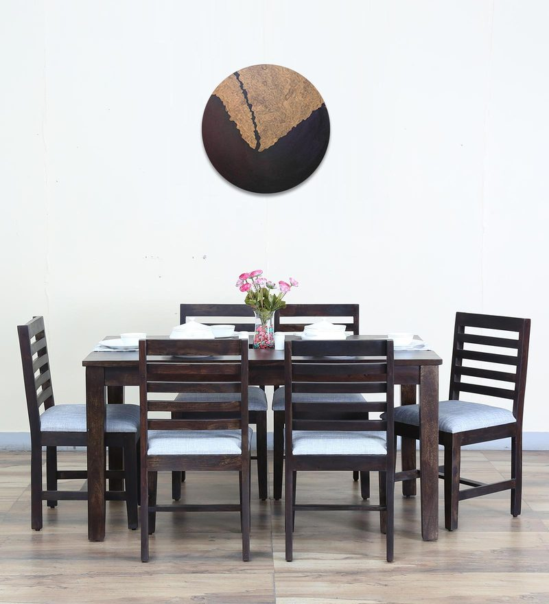 Stigen Six Seater Dining Set in Warm Chestnut Finish by Woodsworth
