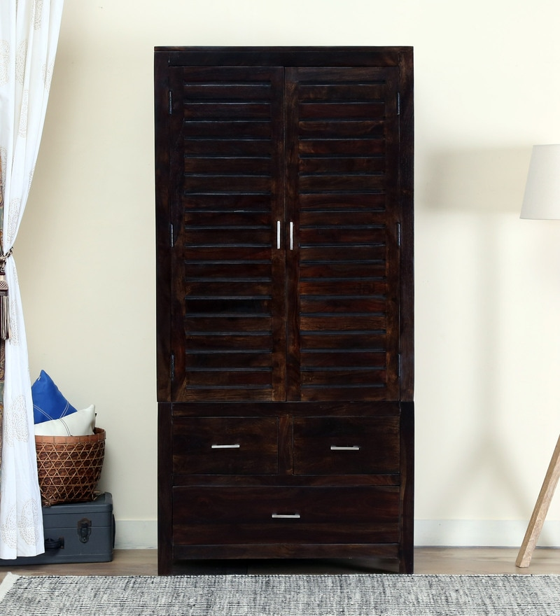 Stigen Wardrobe in Warm Chestnut Finish by Woodsworth