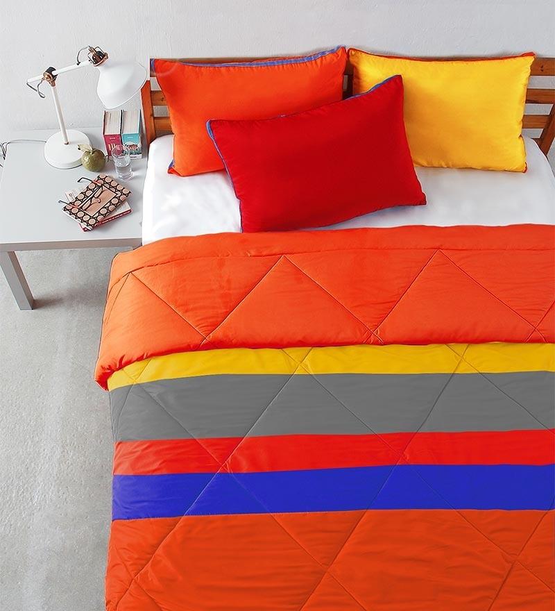 Patchwork Bedding Essentials Multicolour Microfibre Abstract Single Comforter by Stoa Paris