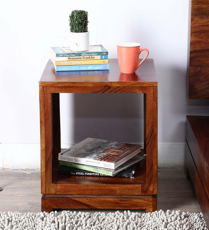 Stockton End Table in Provincial Teak Finish by Woodsworth