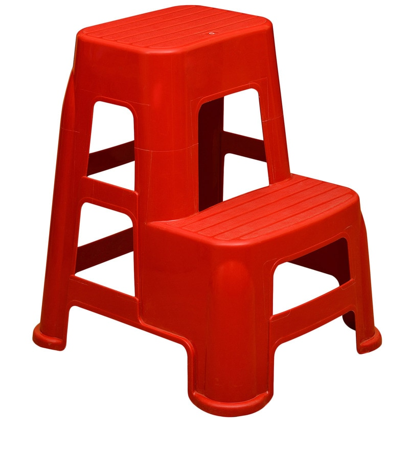 Buy Step Stool In Bright Red Colour By Nilkamal Online