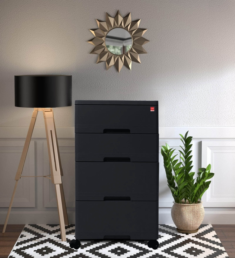 Buy Storewell Pedestal In Black Colour By Cello Online