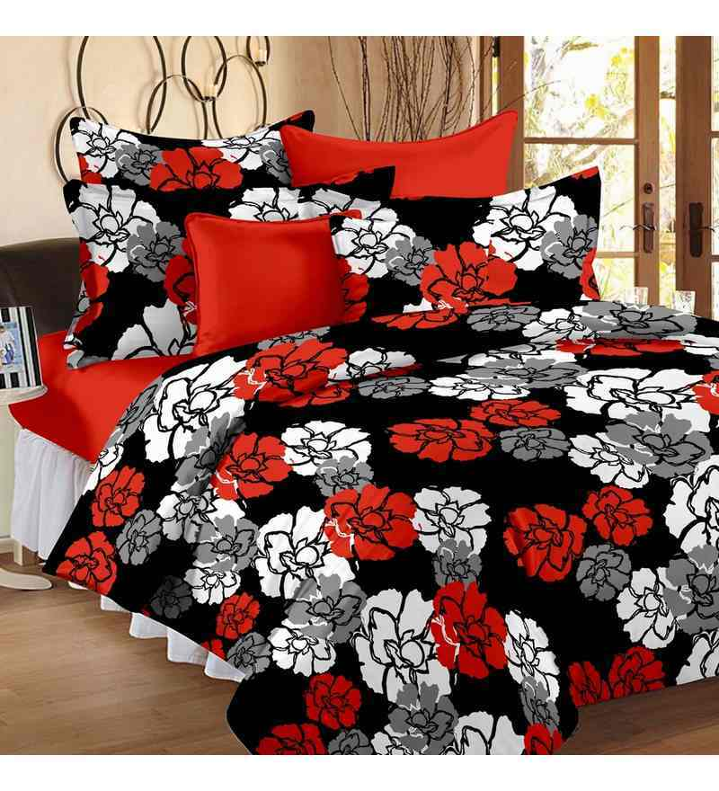 Black Queen-sized Dohar Quilt by Story@Home
