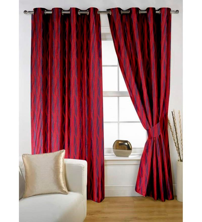 Story Home Maroon 2 Pc Window Curtain 5 Feet By Story