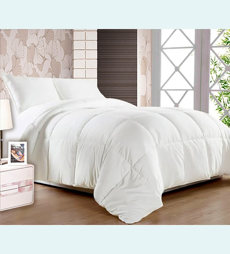 Premium White Fiber Super Soft Single Comforter by Story@Home