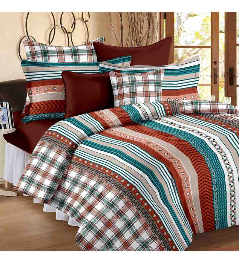 Multicolor 100% Cotton 88 x 108 Inch Forever Bed Sheet Set by Story@Home