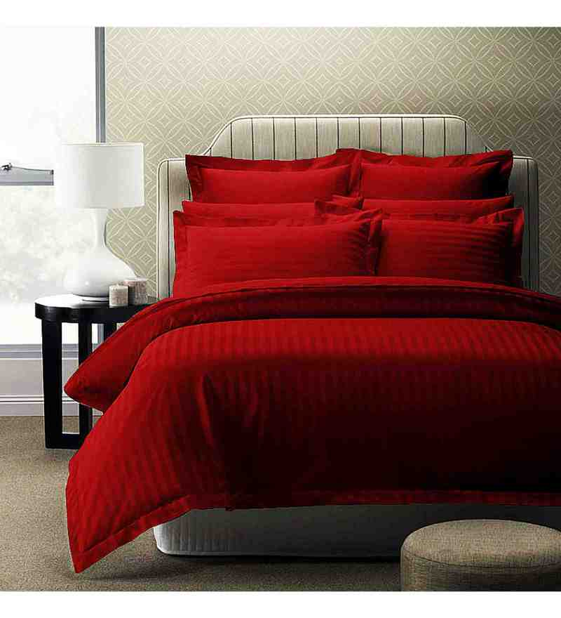 Red 100% Cotton 88 x 108 Inch Forever Bed Sheet Set by Story@Home