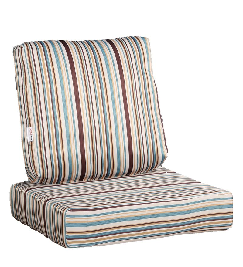 Striped Fabric Sofa Cushion Set (Floor + Back Cushion) by HomeTown