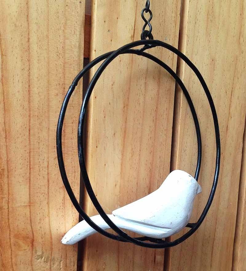 Studio Earthbox White Bird Round Arch Accessory