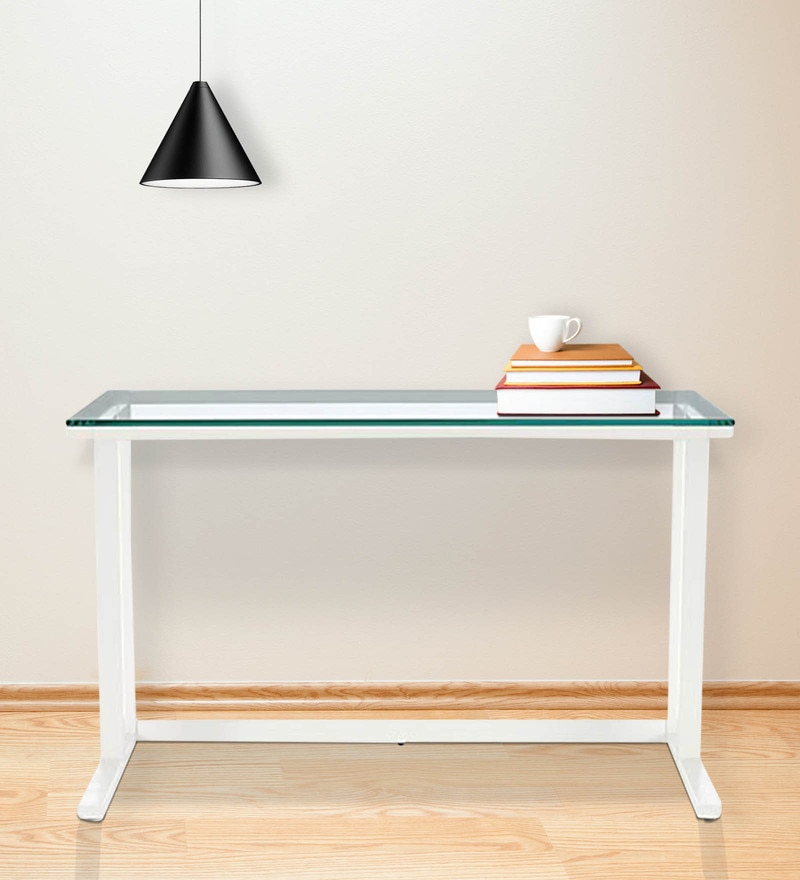 Study Desk in White Colour by Asian Arts