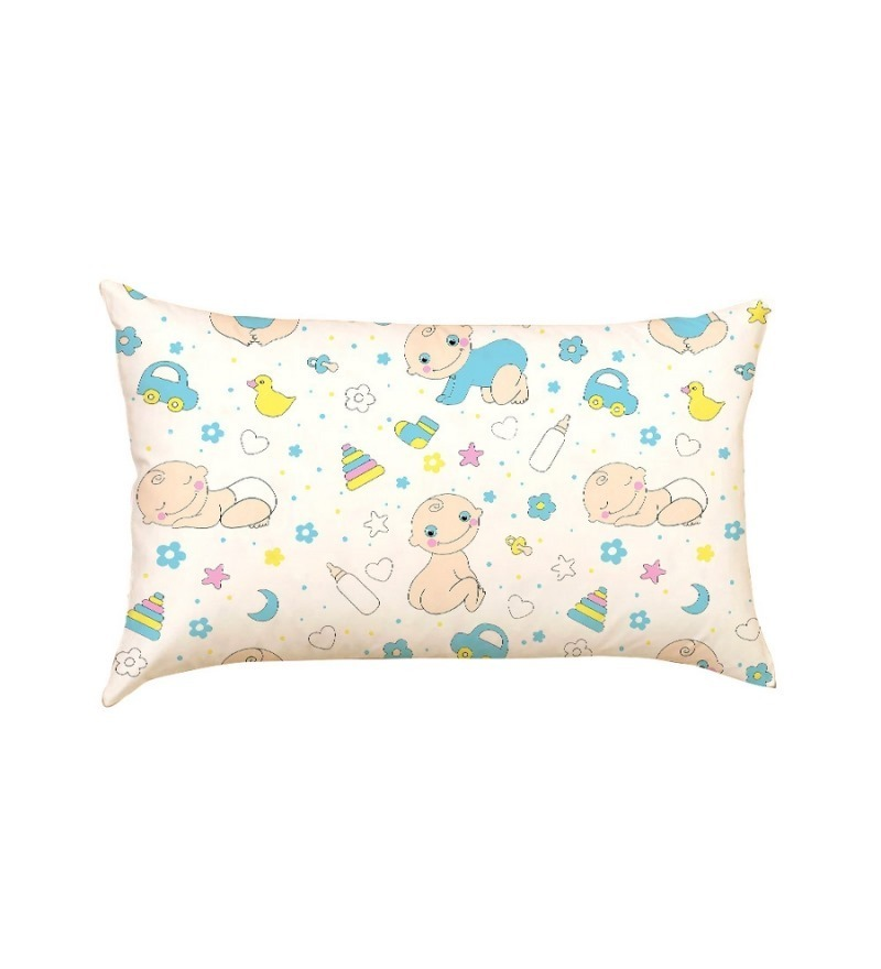 Baby & Toys Multicolour Poly Silk Pillow by Stybuzz