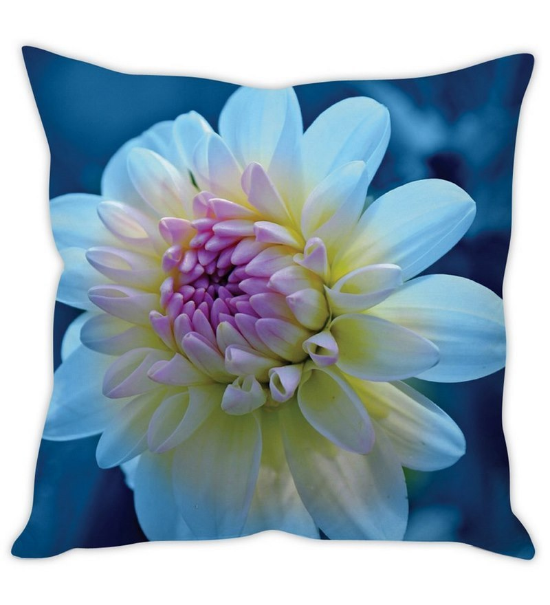 Blue Silk 16 x 16 Inch Cushion Cover by Stybuzz