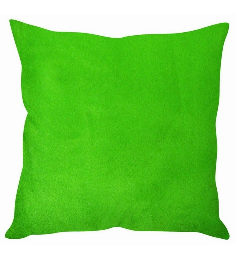 Green Velvet 16 x 16 Inch Lush Cushion Cover by Stybuzz