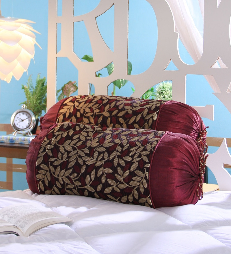 Violet Jute 16 x 30 Inch Bolster Covers - Set of 2 by Stybuzz