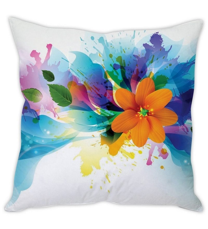 White Silk 16 x 16 Inch Cushion Cover by Stybuzz