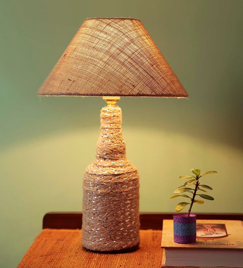 Brown Fabric Table Lamp by Style Home