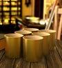 Stallion Barware Unbreakable Uber Gold Old Fashion 350 ML Whiskey Glass - Set of 6