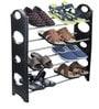 Standard Shoe Rack with Steel Bars in Black Colour by TJAR