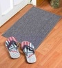Grey Nylon 23 x 15 Inch Solid Door Mat by Status