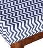 Ellsworth Steel Blue Upholstered Bench in Provincial Teak Finish by Woodsworth